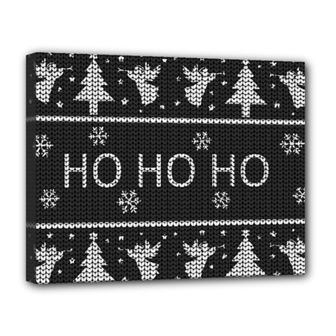 Ugly Christmas Sweater Canvas 14  X 11