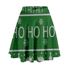 Ugly Christmas Sweater High Waist Skirt