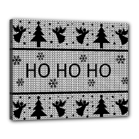 Ugly Christmas Sweater Canvas 20  X 16