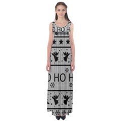 Ugly Christmas Sweater Empire Waist Maxi Dress