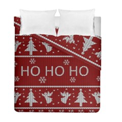 Ugly Christmas Sweater Duvet Cover Double Side (full/ Double Size)