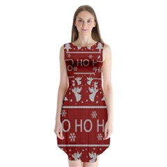 Ugly Christmas Sweater Sleeveless Chiffon Dress