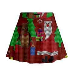 Ugly Christmas Sweater Mini Flare Skirt