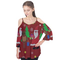Ugly Christmas Sweater Flutter Tees