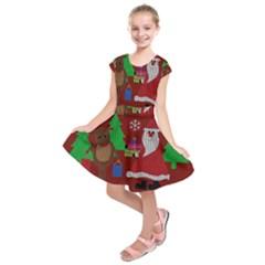 Ugly Christmas Sweater Kids  Short Sleeve Dress