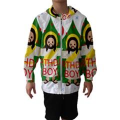 Jesus   Christmas Hooded Wind Breaker (kids)
