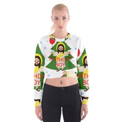 Jesus   Christmas Cropped Sweatshirt