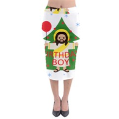 Jesus   Christmas Midi Pencil Skirt