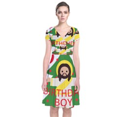 Jesus   Christmas Short Sleeve Front Wrap Dress