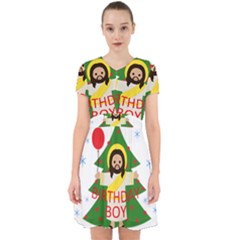 Jesus   Christmas Adorable In Chiffon Dress