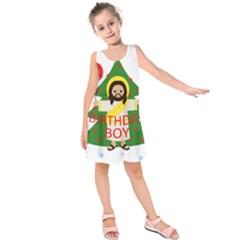 Jesus   Christmas Kids  Sleeveless Dress