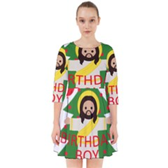 Jesus   Christmas Smock Dress
