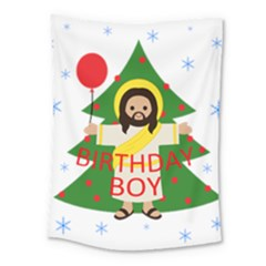 Jesus   Christmas Medium Tapestry