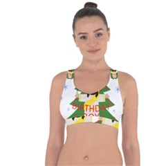 Jesus   Christmas Cross String Back Sports Bra