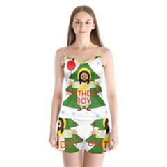Jesus   Christmas Satin Pajamas Set