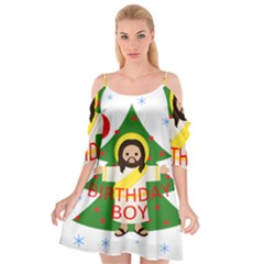 Jesus   Christmas Cutout Spaghetti Strap Chiffon Dress