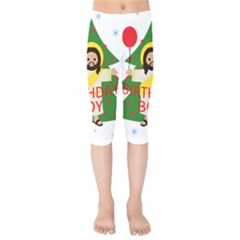 Jesus   Christmas Kids  Capri Leggings