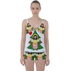 Jesus   Christmas Tie Front Two Piece Tankini
