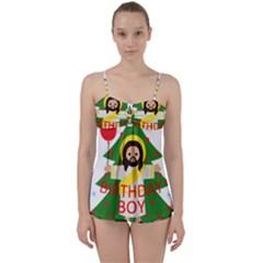 Jesus   Christmas Babydoll Tankini Set