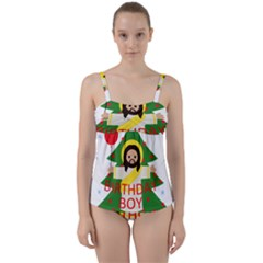 Jesus   Christmas Twist Front Tankini Set
