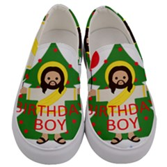 Jesus   Christmas Men s Canvas Slip Ons
