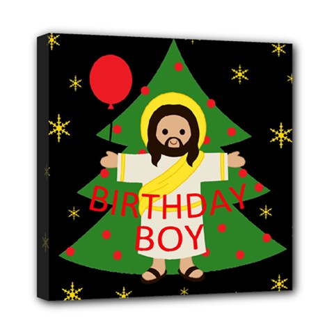 Jesus   Christmas Mini Canvas 8  X 8