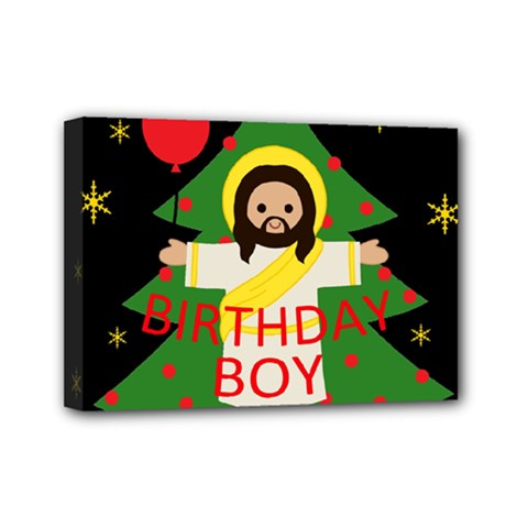 Jesus   Christmas Mini Canvas 7  X 5