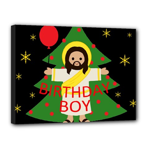 Jesus   Christmas Canvas 16  X 12
