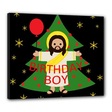 Jesus   Christmas Canvas 24  X 20