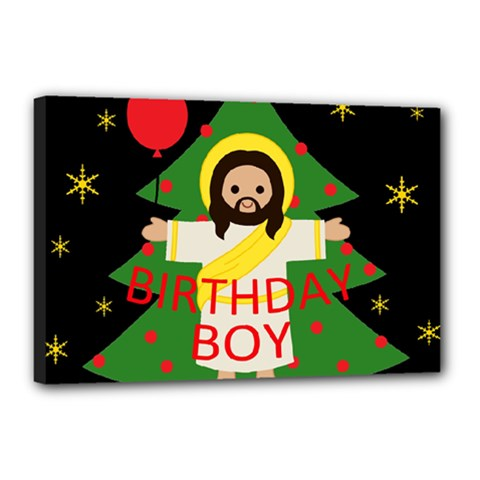 Jesus   Christmas Canvas 18  X 12