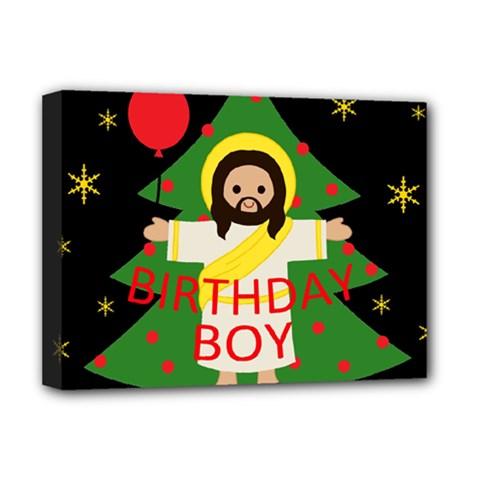 Jesus   Christmas Deluxe Canvas 16  X 12