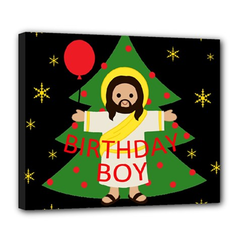 Jesus   Christmas Deluxe Canvas 24  X 20
