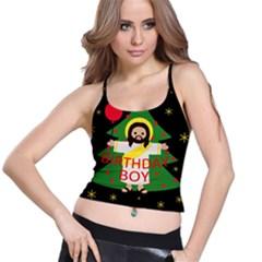 Jesus   Christmas Spaghetti Strap Bra Top