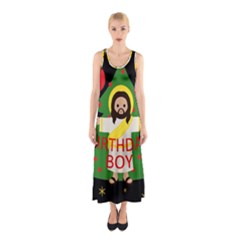 Jesus   Christmas Sleeveless Maxi Dress