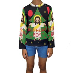 Jesus   Christmas Kids  Long Sleeve Swimwear