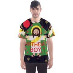 Jesus   Christmas Men s Sports Mesh Tee