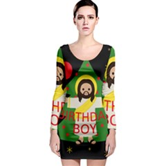 Jesus   Christmas Long Sleeve Bodycon Dress