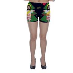 Jesus   Christmas Skinny Shorts