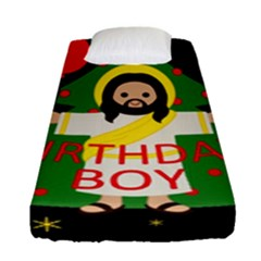 Jesus   Christmas Fitted Sheet (single Size)