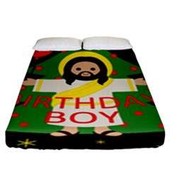 Jesus   Christmas Fitted Sheet (king Size)