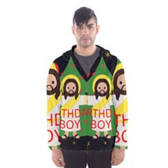 Jesus   Christmas Hooded Wind Breaker (men)