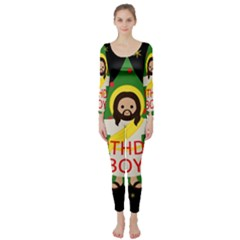 Jesus   Christmas Long Sleeve Catsuit