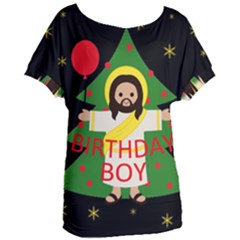 Jesus   Christmas Women s Oversized Tee
