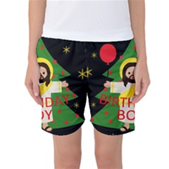 Jesus   Christmas Women s Basketball Shorts