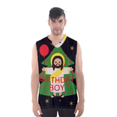 Jesus   Christmas Men s Basketball Tank Top