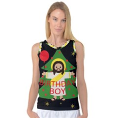 Jesus   Christmas Women s Basketball Tank Top