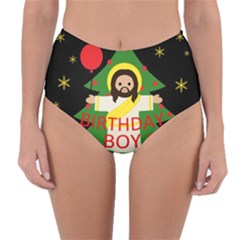 Jesus   Christmas Reversible High Waist Bikini Bottoms