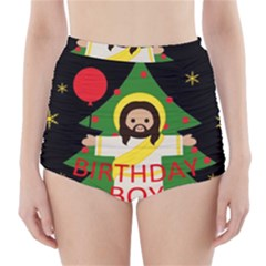 Jesus   Christmas High Waisted Bikini Bottoms