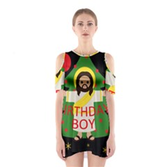 Jesus   Christmas Shoulder Cutout One Piece