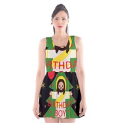 Jesus   Christmas Scoop Neck Skater Dress